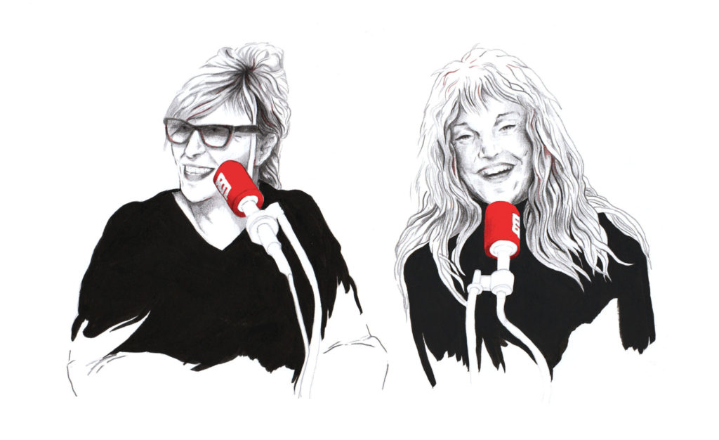 Chantal Ladesou et Arièle Dombasle.